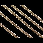 "Vintage 14k Gold Loose Rope Chain ~ 20"" ~ 7.9 Grams"