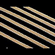 "Vintage 14k Gold Long Curb Link Chain ~ 24"" ~ 6.6 Grams"