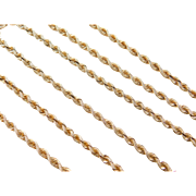 """Vintage 14k Gold Long Rope Chain ~ 24"""" ~ 12.9 Grams"""