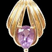 Vintage 14k Gold Amethyst Pendant