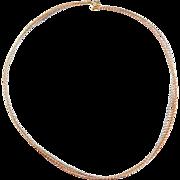 """Vintage 14k Gold Tri-Color Cable Necklace ~ 20"""" ~ 5.6 Grams"""