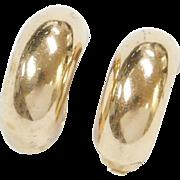 Vintage 14k Gold Clip On Earrings