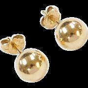Vintage 14k Gold 8mm Ball Stud Earrings
