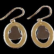 Vintage 14k Gold Two-Tone Heart Earrings