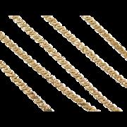 "Vintage 14k Gold LONG Serpentine Chain ~ 23 1/2"" ~ 20.6 Grams"