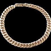 """Vintage 14k Gold Curb Link Bracelet ~ 8"""""""
