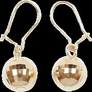 Vintage 14k Gold Disco Ball Earrings