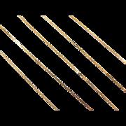 "Vintage 14k Gold LONG Serpentine Chain ~ 24"" ~ 1.1 Grams"