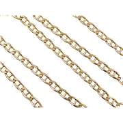 "Vintage 14k Gold Marine Anchor Link Chain ~ 21"" ~ 23.3 Grams"