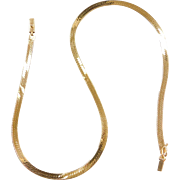 "Vintage 14k Gold Herringbone Chain  ~ 16"" ~ 9.7 Grams"
