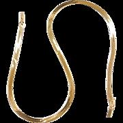 """Vintage 14k Gold Herringbone Chain  ~ 16"""" ~ 9.7 Grams"""
