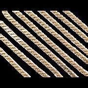 "Vintage 14k Gold Super Long Fancy Chain ~ 48 1/2"" ~ 48.9 Grams"