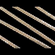 "Vintage 14k Gold Long Serpentine Chain 21"" ~ 11.0 Grams"