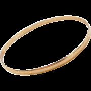 """Vintage 14k Gold Baby Bangle Bracelet ~ 6 1/4"""""""