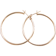Vintage 14k Gold Large Hoop Earrings