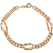 "Vintage 14k Gold Knot Bracelet ~ 7 1/2"""