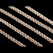 "Vintage 14k Gold Fancy Link Chain ~ 19"" ~ 6.6 Grams"