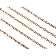 "Vintage 14k Gold Long Link Chain ~ 25"" ~ 14.6 Grams"