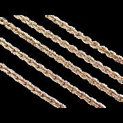 "Vintage 14k Gold Long Link Chain ~ 25"" ~ 14.6 Grams"