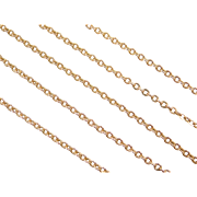 """Vintage 14k Gold Cable Link Chain ~ 20"""" ~ 4.9 Grams"""
