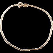 """Vintage 14k Gold Serpentine Bracelet ~ 7 1/8"""""""