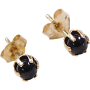 Vintage 14k Gold Onyx Stud Earrings