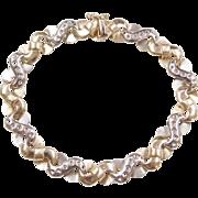 """Vintage 14k Gold Two-Tone Bracelet 7 1/4"""""""