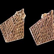 Vintage 14k Gold Diamond Cut Stud Earrings