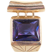Vintage 14k Gold Color Changing Alexandrite Pendant