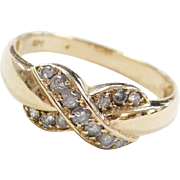 Vintage 14k Gold Faux Diamond Ring