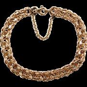 Vintage 14k Gold Double Link Bracelet