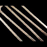 "Vintage 14k Gold Long Serpentine Chain ~ 24"" ~ 5.5 Grams"