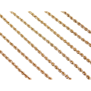 """Vintage 14k Gold LONG Rope Chain ~ 30"""" ~ 16.9 Grams"""