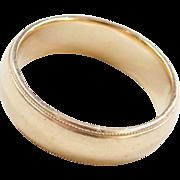 Vintage 14k Gold Gents Wedding Band Ring