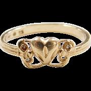Vintage 14k Gold Heart Ring