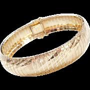 """Vintage 14k Gold WIDE Bracelet ~ 7 1/8"""""""