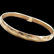 """Vintage 14k Gold Bangle Bracelet ~ 6 3/4"""""""