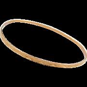 """Vintage 10k Gold Bangle Bracelet ~ 6 1/4"""""""