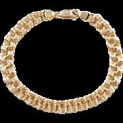 """Vintage 14k Gold Link Bracelet ~ 8 1/2"""""""
