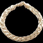 "Vintage 14k Gold Braided Bracelet ~ 7 1/4"""