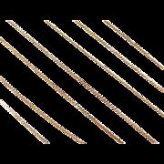 "Vintage 14k Gold LONG Serpentine Chain ~ 31 1/2"" ~ 2.3 Grams"