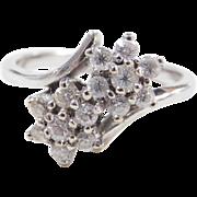 Vintage 14k White Gold Faux Diamond Ring