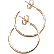 Vintage 14k Gold Hoop Earrings