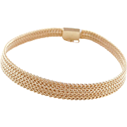 """Vintage 14k Gold Woven Bracelet ~ 7"""""""