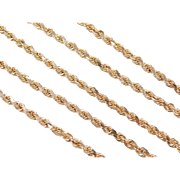 "Vintage 14k Gold Diamond Cut Rope Chain ~ 20"" ~ 13.4 Grams"
