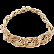 """Vintage 18k Gold Chunky Bracelet ~ 8"""""""