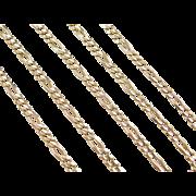 "Vintage 14k Gold Figaro Link Chain ~ 18 5/8"" ~ 7.1 Grams"