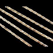 "Vintage 14k Gold Rectangle Link Chain ~ 17 3/4"" ~2.0 Grams"