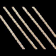 "Vintage 14k Gold Long Singapore Chain ~ 24"" ~ 1.0 Grams"