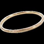 """Vintage 14k Gold Bangle Bracelet ~ 7"""""""